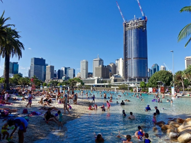 Southbank Beach, South Brisbane, Queensland, Australia