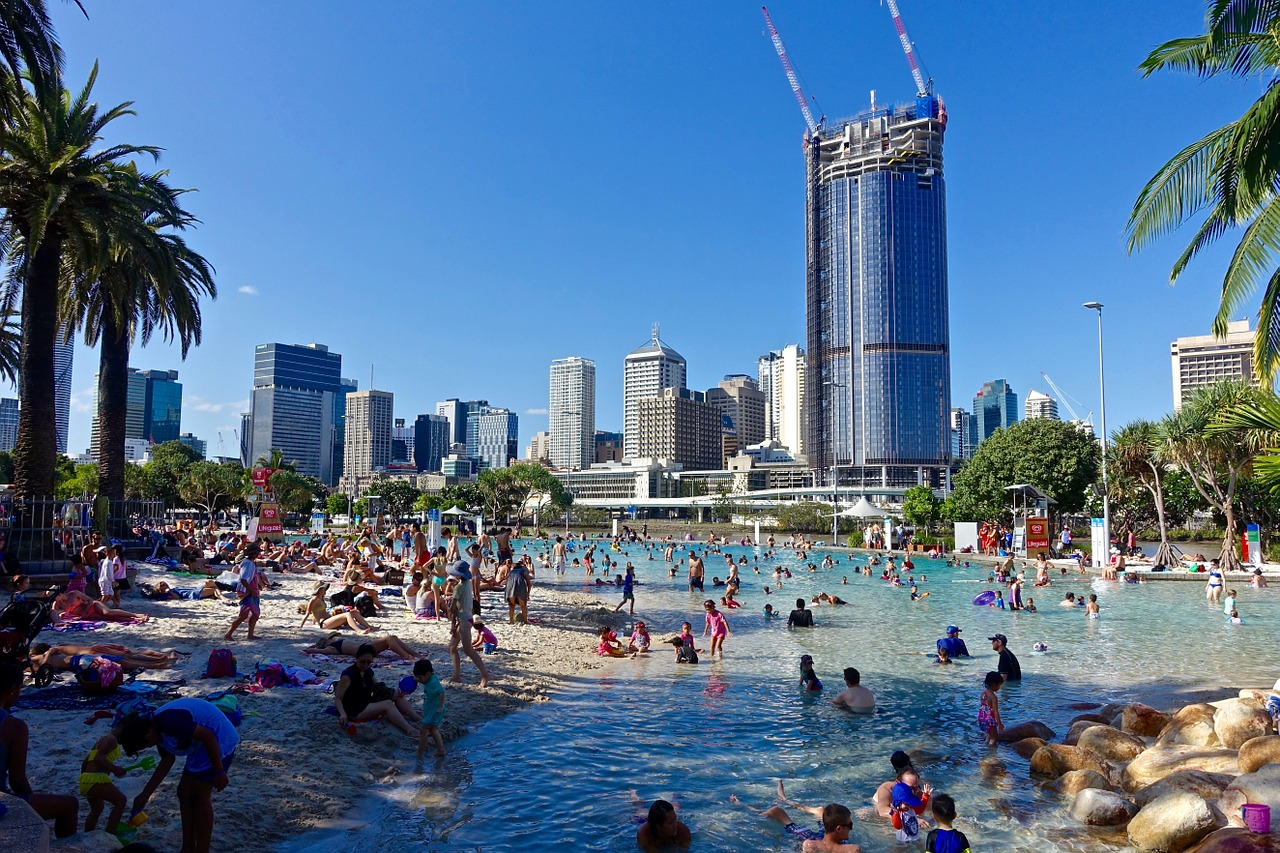 Southbank Beach, South Brisbane, Queensland, Australia
